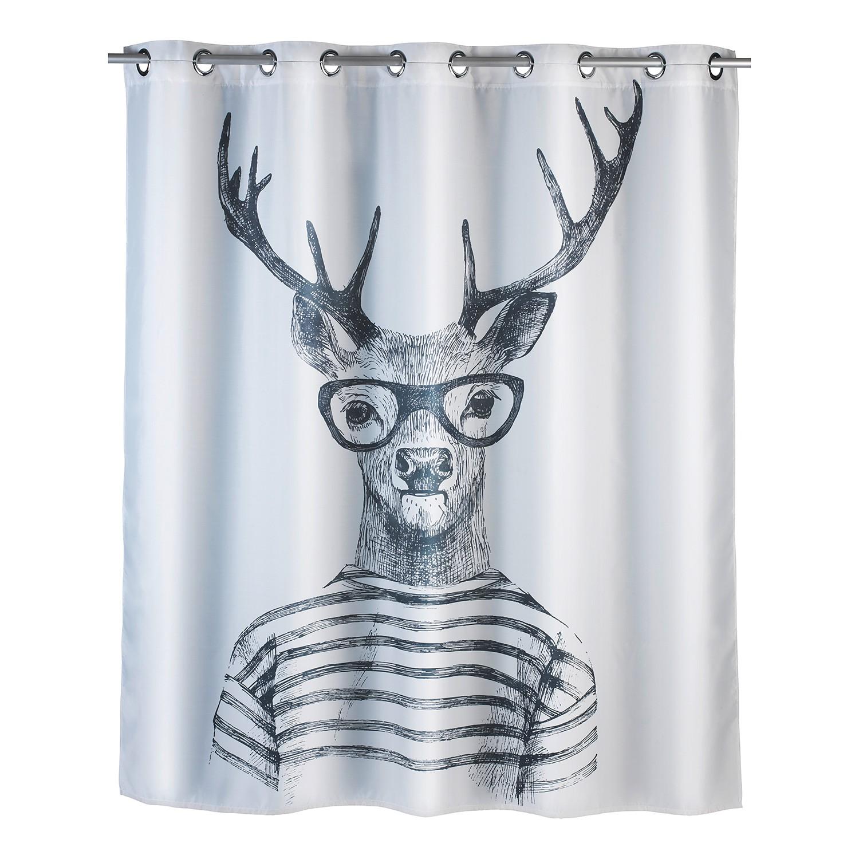 Duschvorhang Mr. Deer Flex - Kunstfaser - Weiß ...