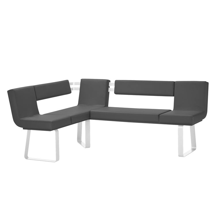 Hoekbank Chacigo - Zwart/wit, loftscape