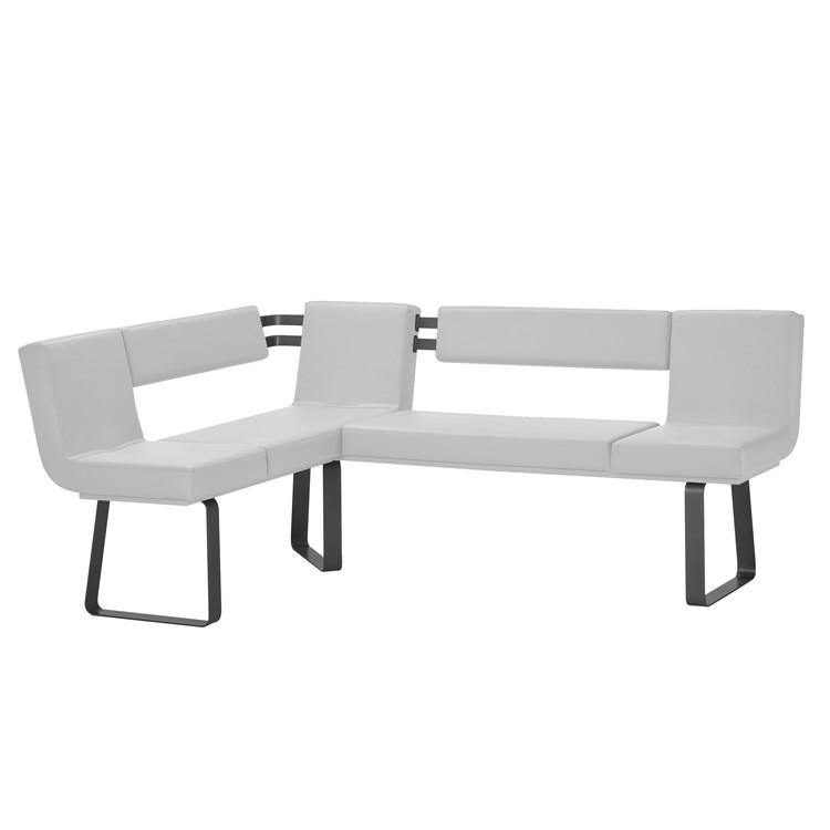 Hoekbank Chacigo - Wit/zwart, loftscape