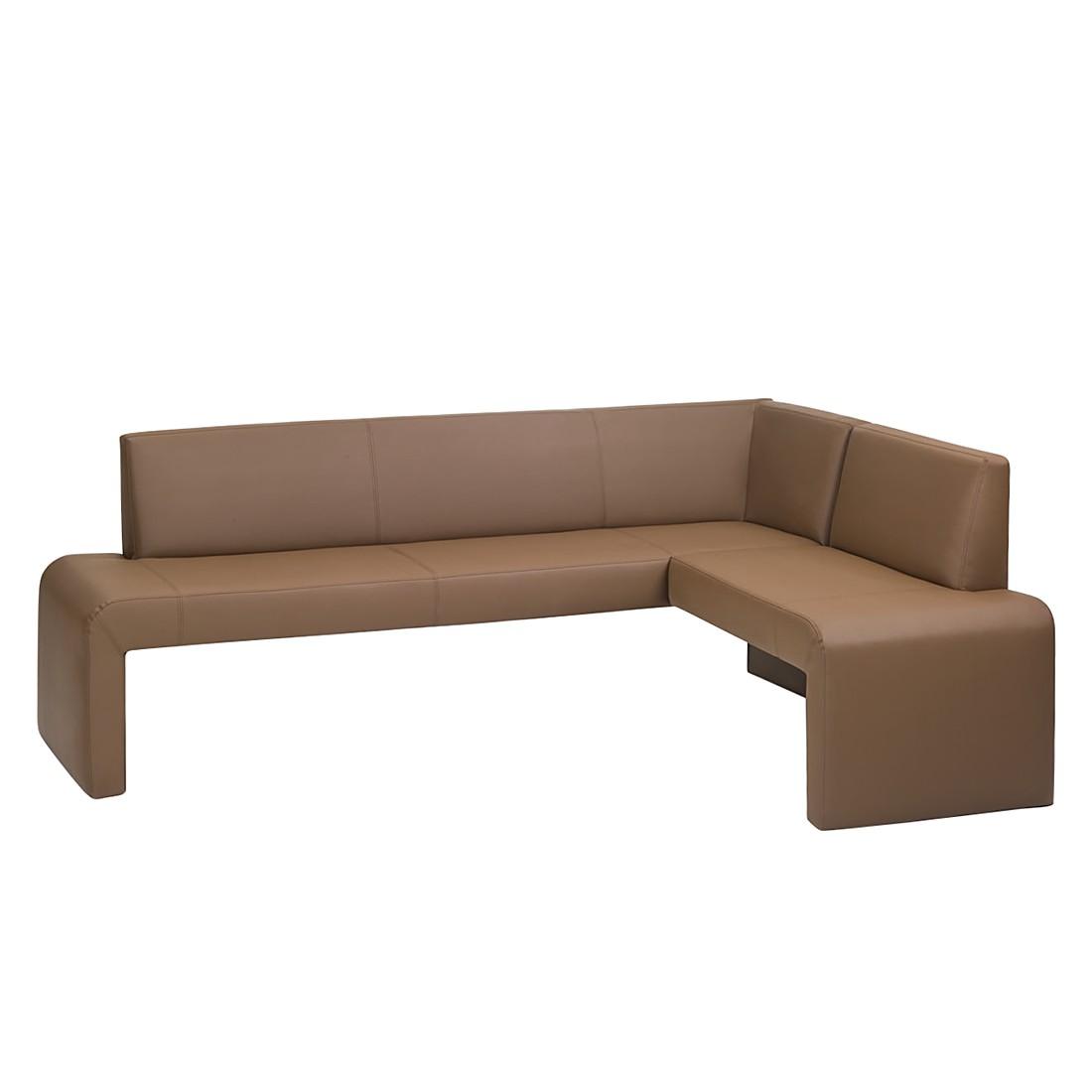 Home 24 - Banc d angle magadino - cuir synthétique / marron, modoform