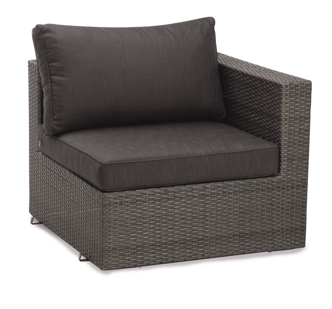 Eckelement Lounge Aruba (inkl. Sitz-und Rückenpolster) - Aluminium/Kunstfaser - Flachgewebe/Anthrazit, Best Freizeitmöbel
