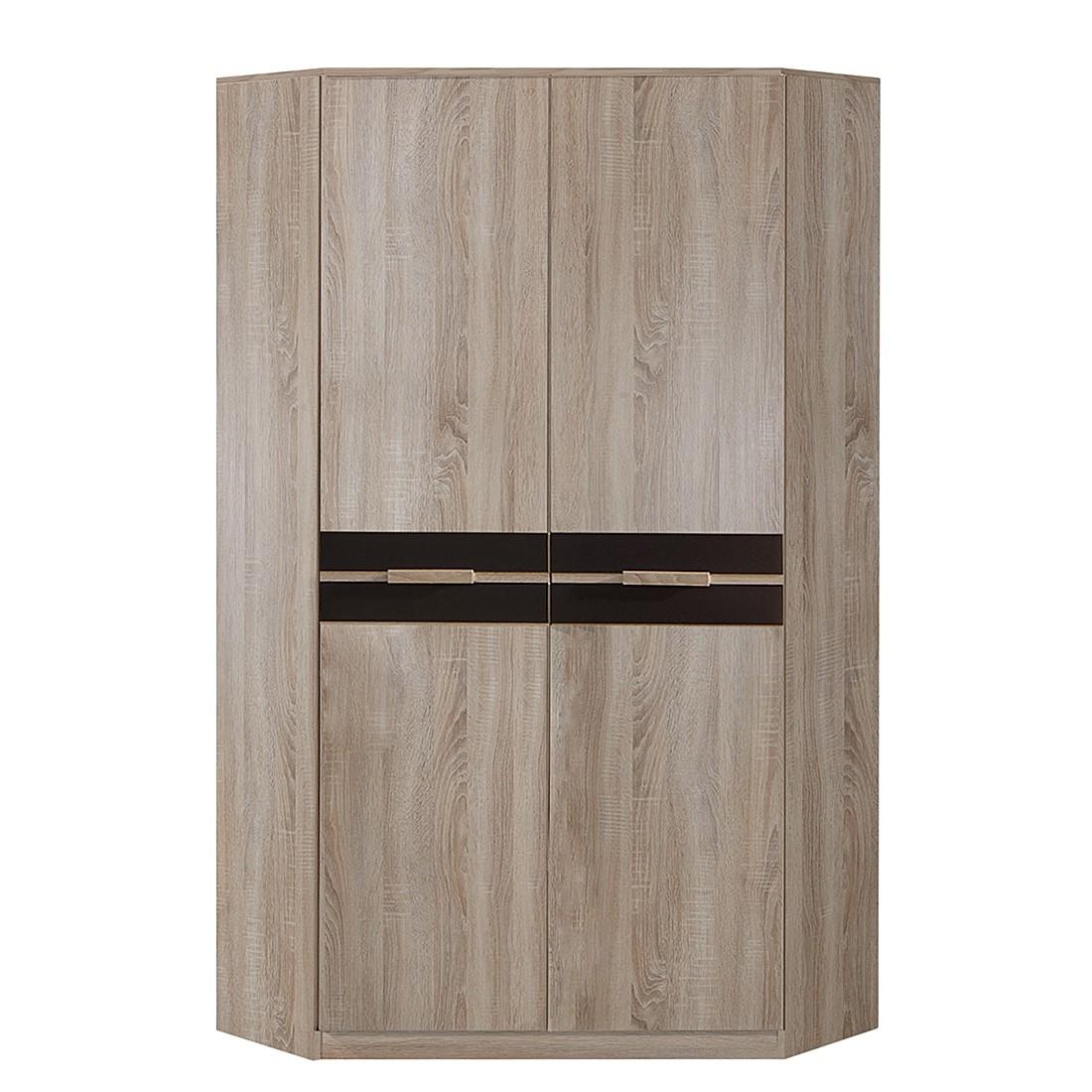 Hoekkast Fame (2-deurs) grof gezaagde eikenhouten look-lavasteenkleurig, Wimex