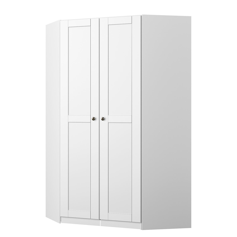 Armoire d'angle KiYDOO Landhaus I - Blanc alpin - 197 cm, mooved