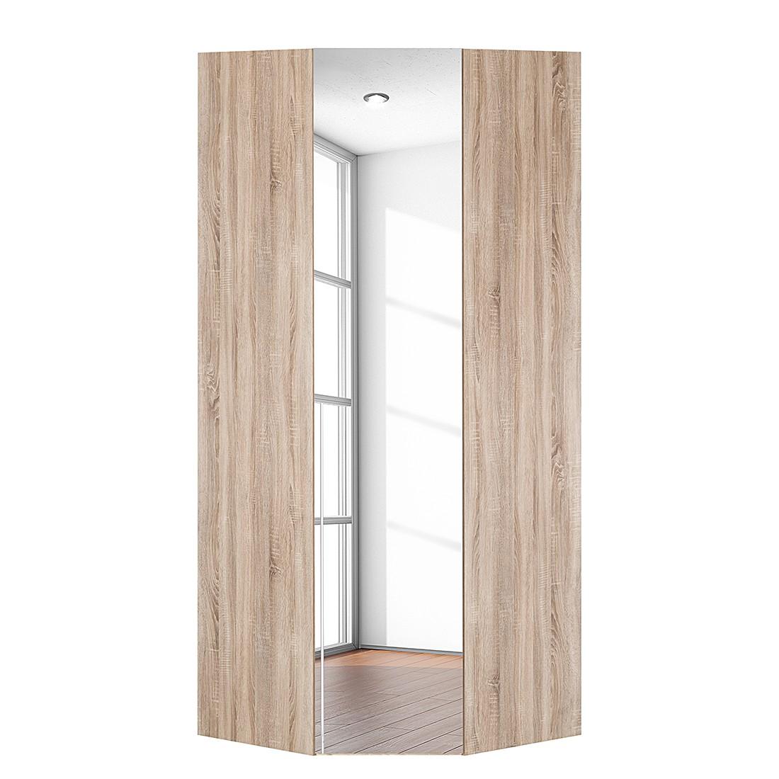 Armoire d'angle Brooklyn IV - Imitation chêne de Sonoma / Miroir - 216 cm, Express Möbel