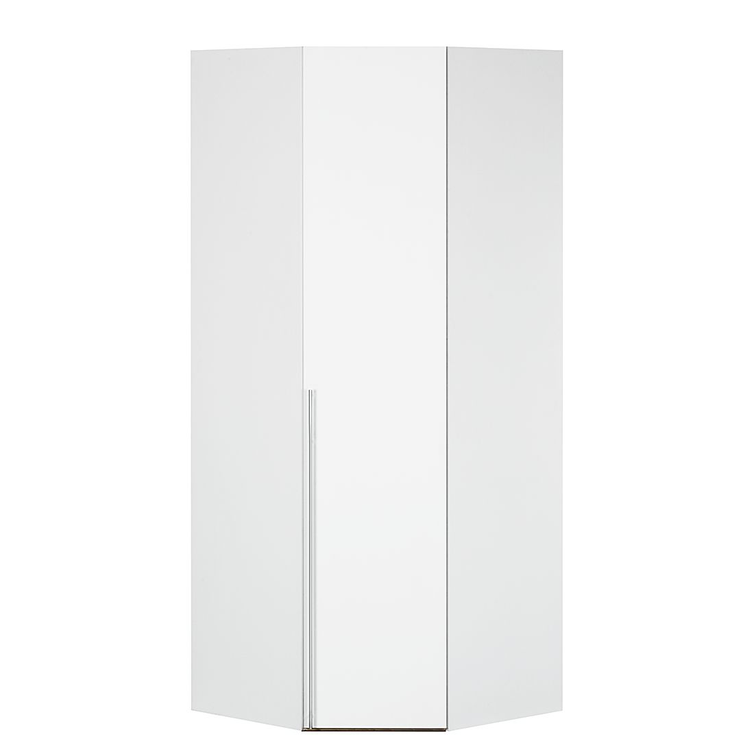 Armoire d'angle Brooklyn I - Blanc polaire - 216 cm, Express Möbel