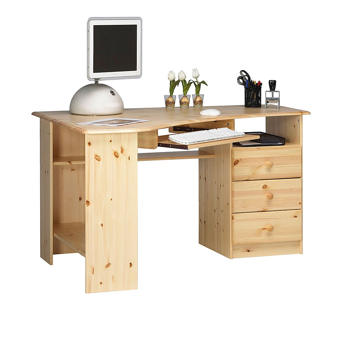 bureau enfant pin massif 3 tiroirs alex prix et offres. Black Bedroom Furniture Sets. Home Design Ideas