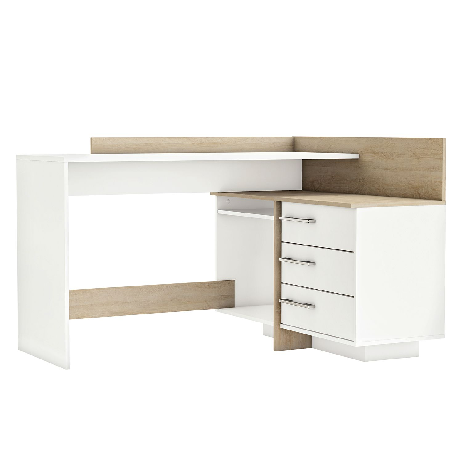 eckschreibtisch weiss preisvergleich die besten angebote online kaufen. Black Bedroom Furniture Sets. Home Design Ideas