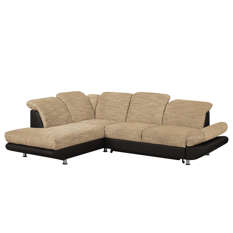ecksofa bandya kunstleder strukturstoff ottomane davorstehend links mit schlaffunktion. Black Bedroom Furniture Sets. Home Design Ideas