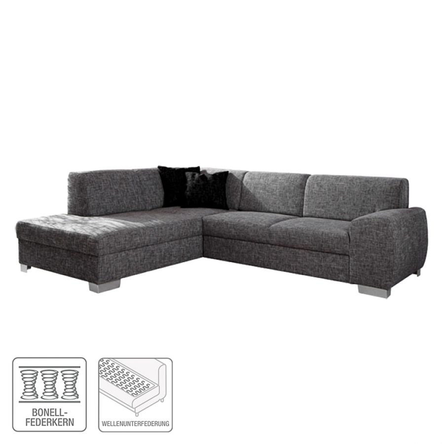 ecksofa barkley stoff dunkelgrau ottomane. Black Bedroom Furniture Sets. Home Design Ideas