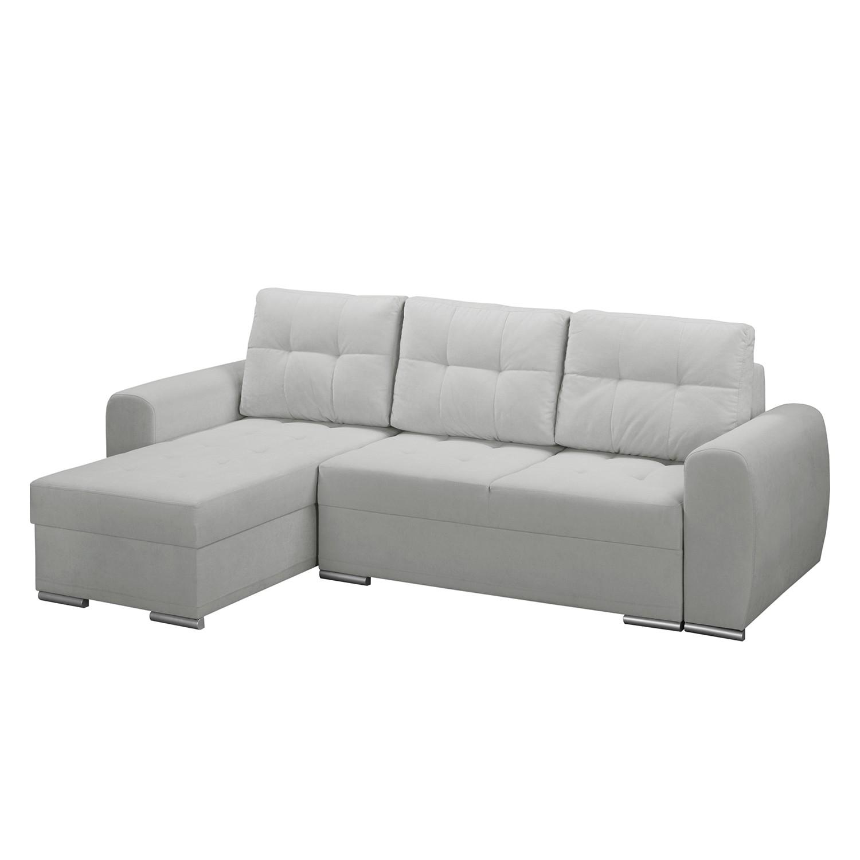 canap d angle belnie convertible microfibre m ridienne longue gauche vue de face. Black Bedroom Furniture Sets. Home Design Ideas