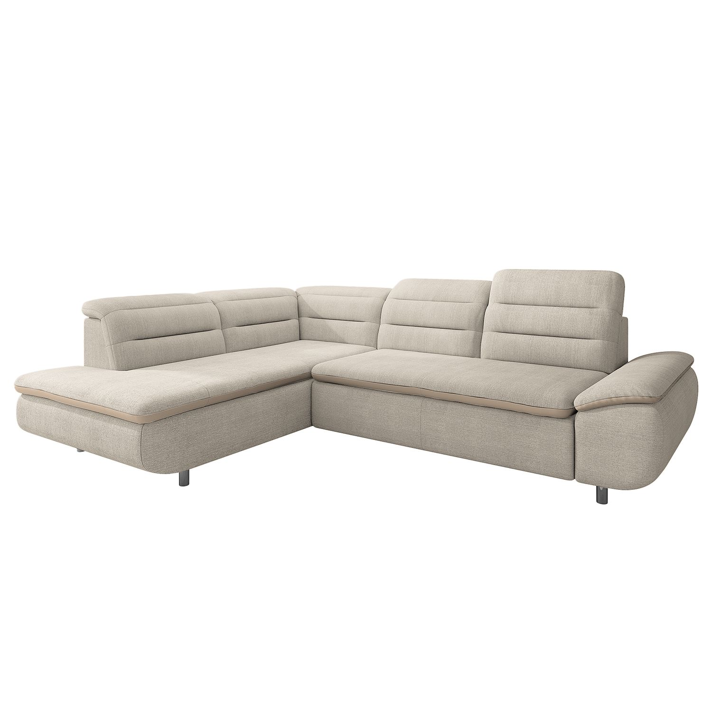 canap d angle bodega bay ii tissu structur imitation cuir courte gauche vue de face. Black Bedroom Furniture Sets. Home Design Ideas