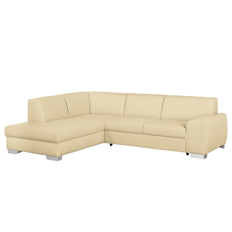 Canapé d'angle Bollon - Imitation cuir - Courte à gauche (vue de face) - Avec fonction couchage - Be