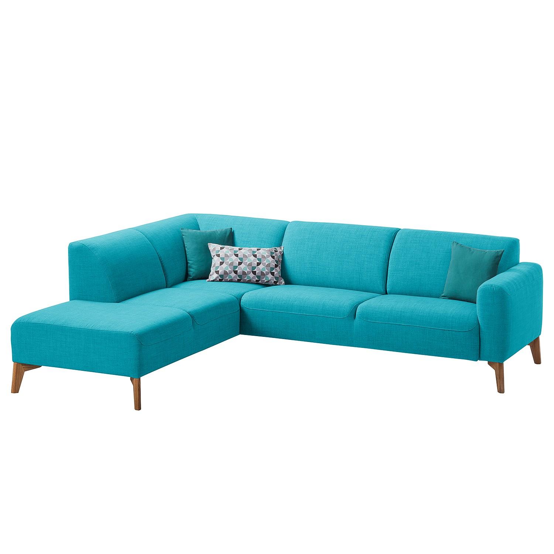 canap d 39 angle bora ii tissu courte gauche vue de face tissu anda ii turquoise studio. Black Bedroom Furniture Sets. Home Design Ideas