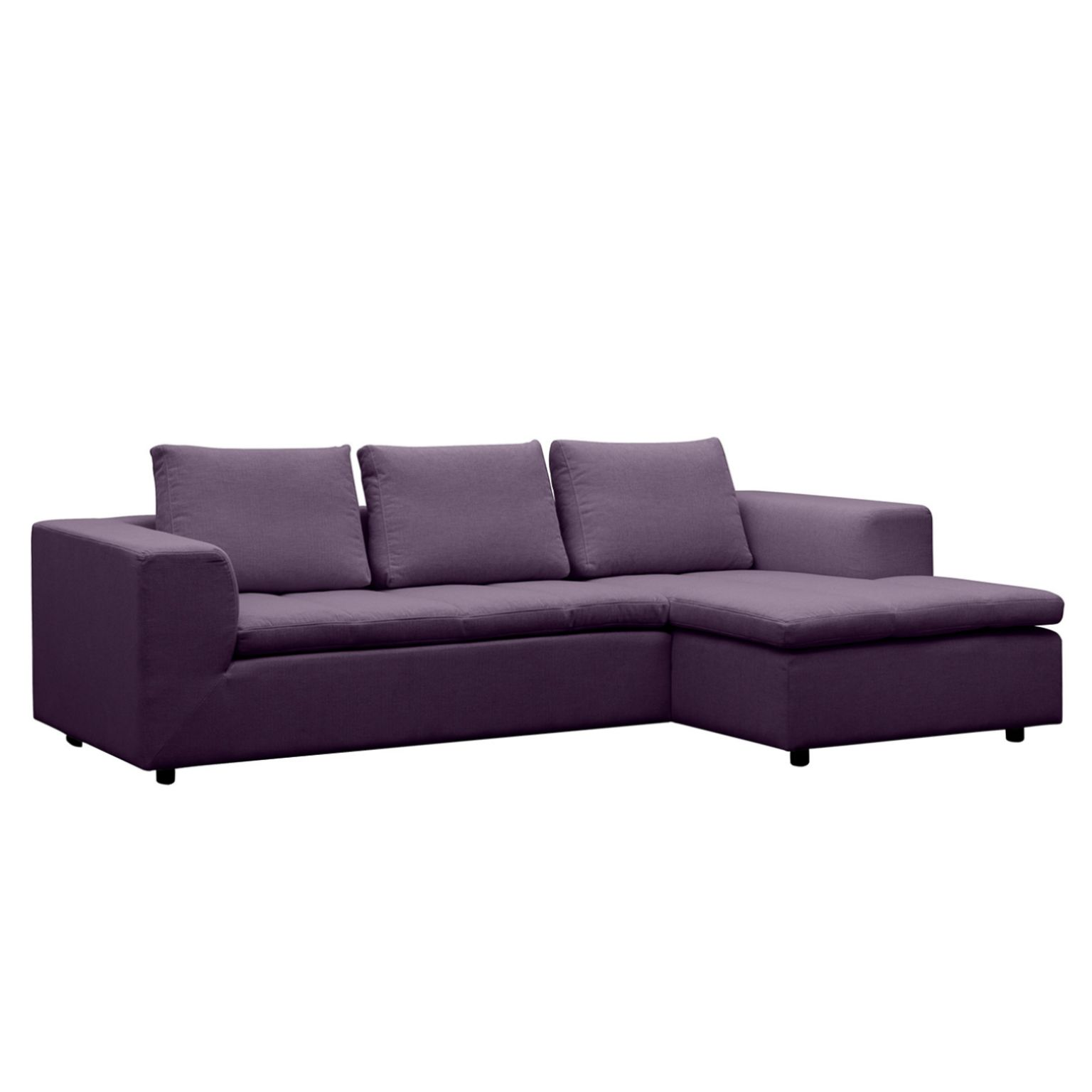 ecksofa brooklyn ii webstoff longchair ottomane davorstehend rechts stoff anda ii violett. Black Bedroom Furniture Sets. Home Design Ideas