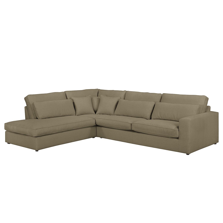 canap d 39 angle coolock tissu courte gauche vue de face nougat naturoo par naturoo. Black Bedroom Furniture Sets. Home Design Ideas