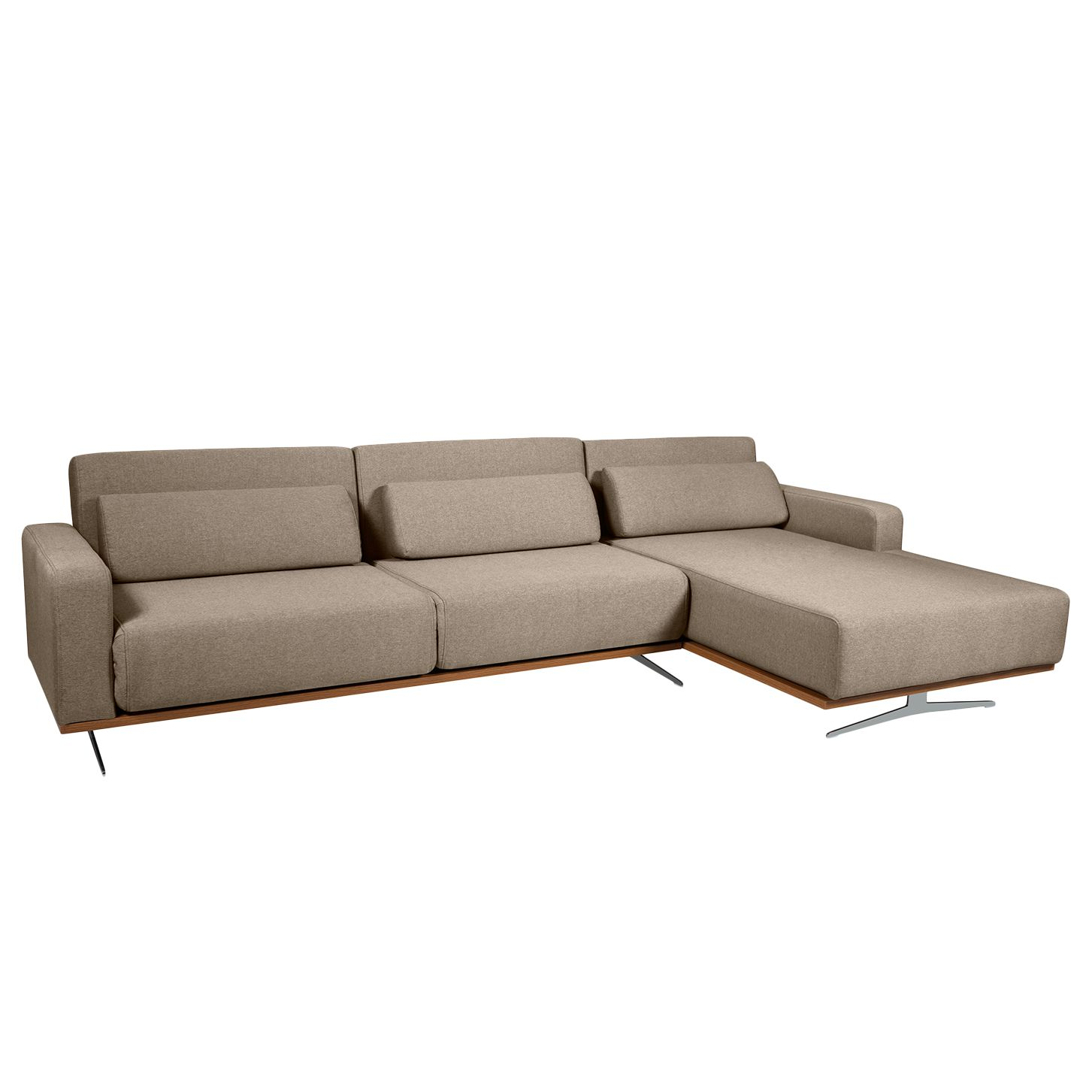 Ecksofa copperfield ii mit schlaffunktion webstoff for Ecksofa stoff grau