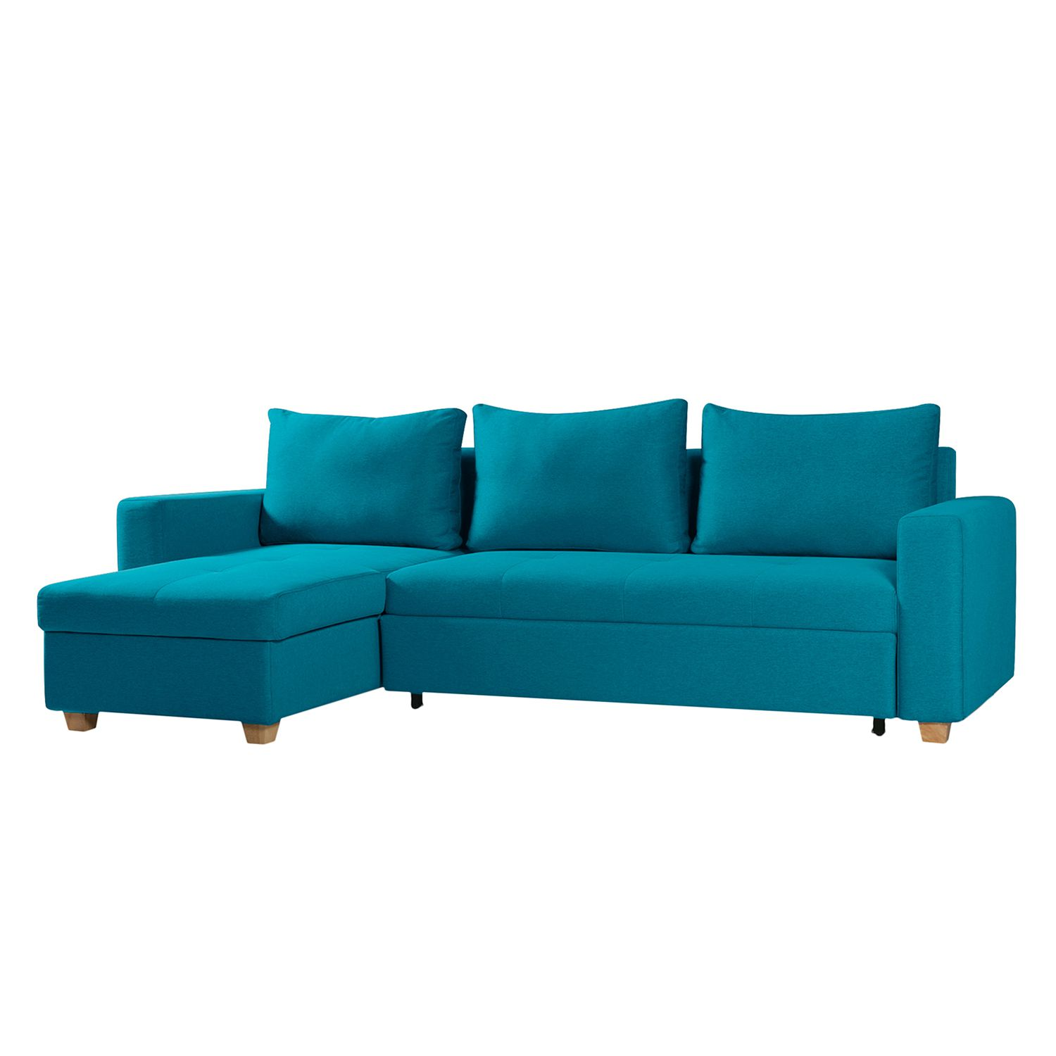 Canap d 39 angle crandon avec fonction couchage tissu for 2 canapes face a face