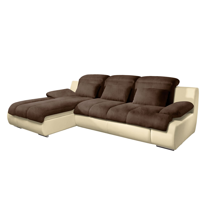 kunstleder sofa braun affordable ecksofa mit sitz und rckenflche in webstoff in und einem. Black Bedroom Furniture Sets. Home Design Ideas