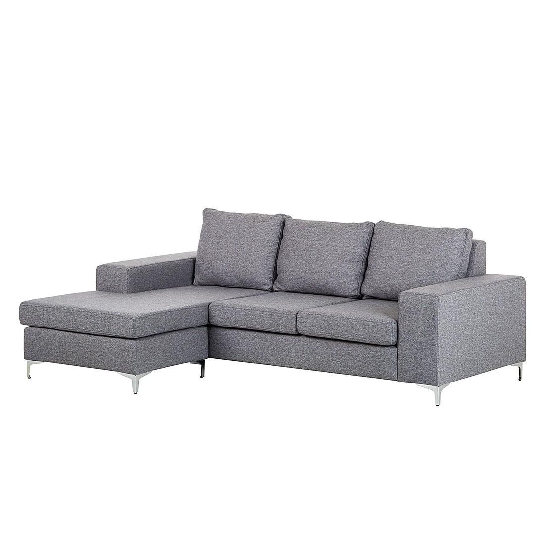 Canapé d'angle Cush - Tissu structuré gris-Méridienne, roomscape