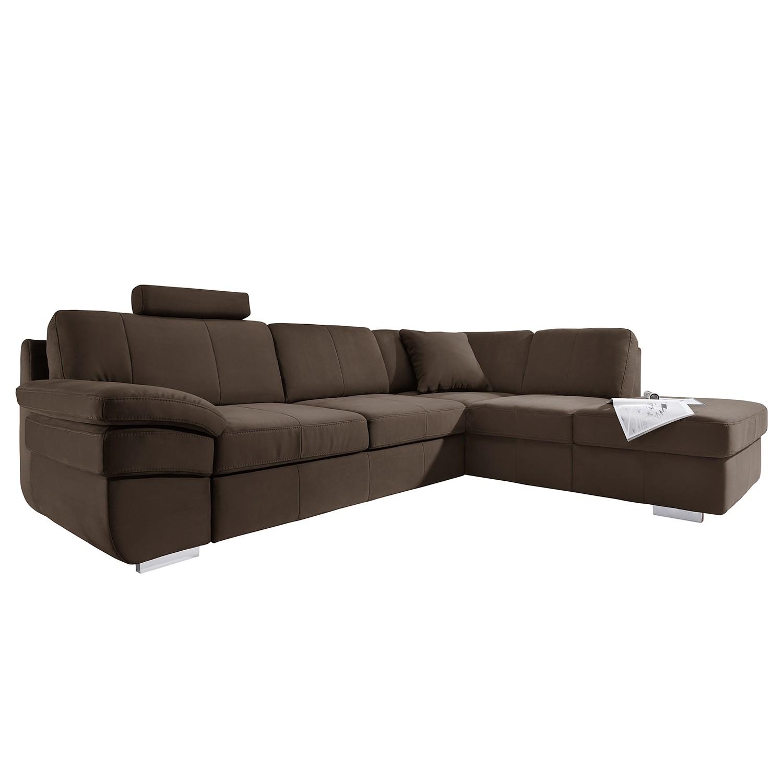 ecksofa eltham mit schlaffunktion microvelour longchair ottomane davorstehend rechts. Black Bedroom Furniture Sets. Home Design Ideas