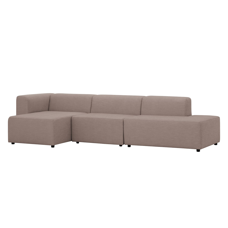 ecksofa graham webstoff longchair ottomane davorstehend links stoff mera beige grau. Black Bedroom Furniture Sets. Home Design Ideas