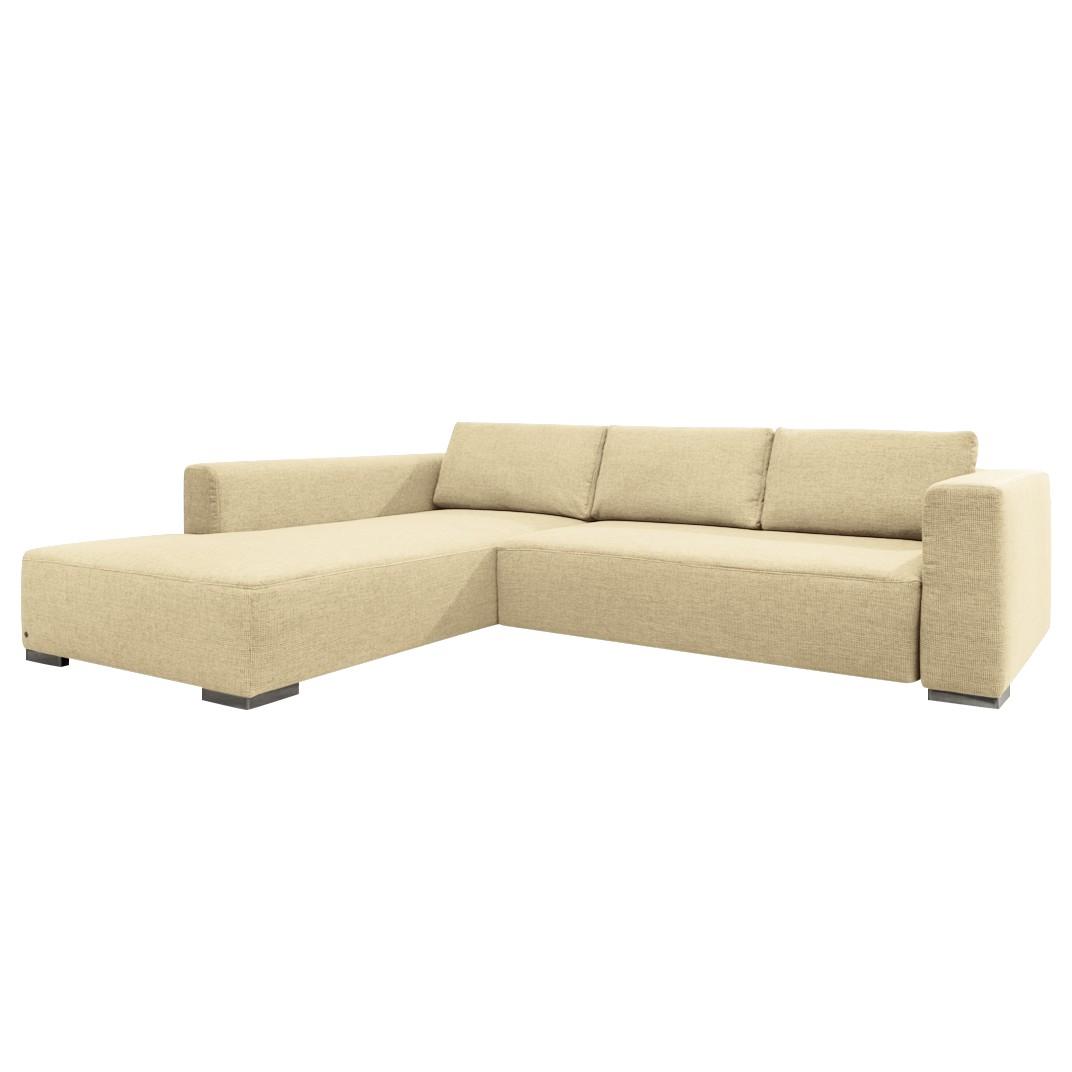 Ecksofa Heaven Colors Style M   Webstoff   Longchair/Ottomane Davorstehend  Links   Mit Schlaffunktion
