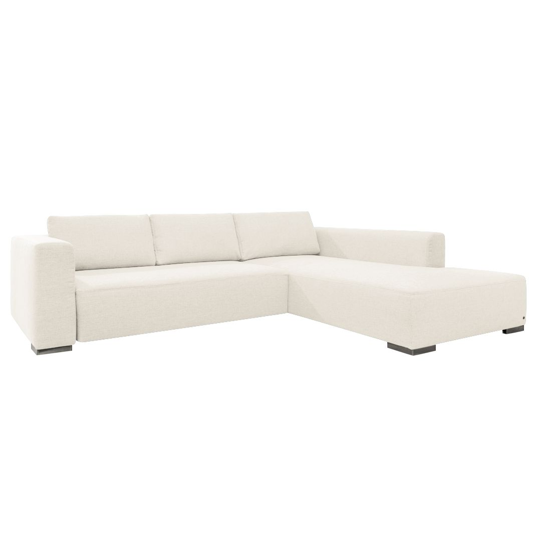 Canapé d'angle Heaven Colors Style M - Tissu - Méridienne à droite (vue de face) - Sans fonction cou