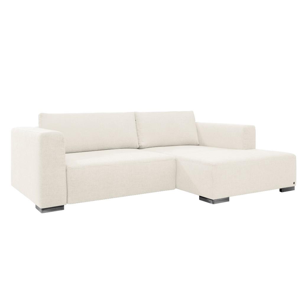 Canapé d'angle Heaven Colors Style S - Tissu - Méridienne à droite (vue de face) - Sans fonction cou