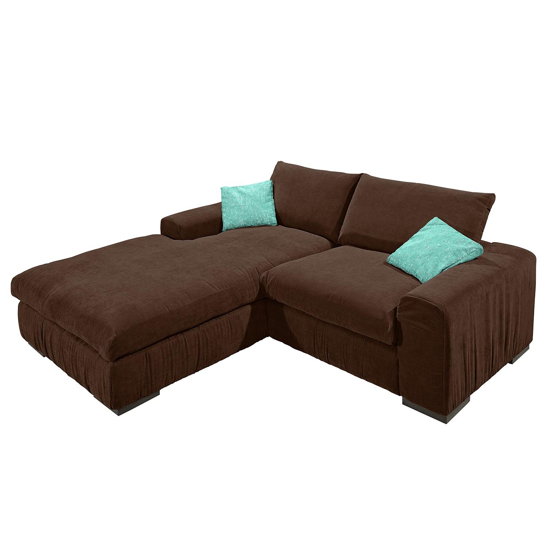 ecksofa hixon ii webstoff longchair ottomane davorstehend links braun t rkis modoform. Black Bedroom Furniture Sets. Home Design Ideas