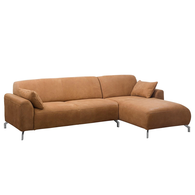 Ecksofa Hooper - Echtleder - Longchair davorstehend rechts - Hellbraun