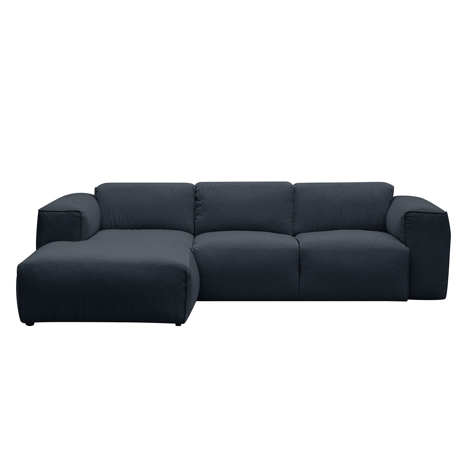 Ecksofa grau  Sofa Hudson II (3-Sitzer) Echtleder - Fashion For Home