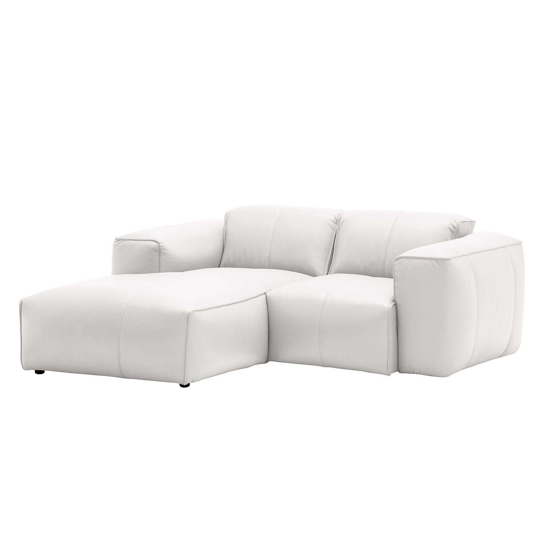 ecksofa hudson vii echtleder longchair ottomane davorstehend links echtleder neka wei. Black Bedroom Furniture Sets. Home Design Ideas