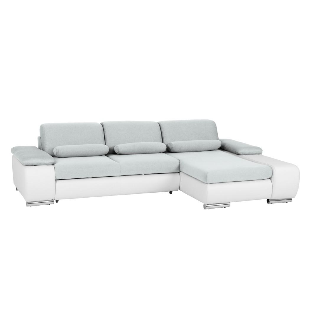 ecksofa infinity mit schlaffunktion kunstleder wei webstoff grau longchair ottomane. Black Bedroom Furniture Sets. Home Design Ideas