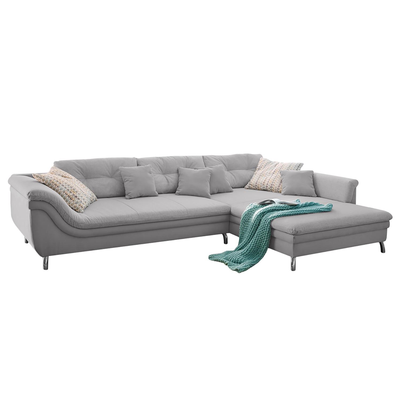 Canapé d'angle Kintom Tissage à plat - Courte à droite (vue de face) - Granit, Home Design