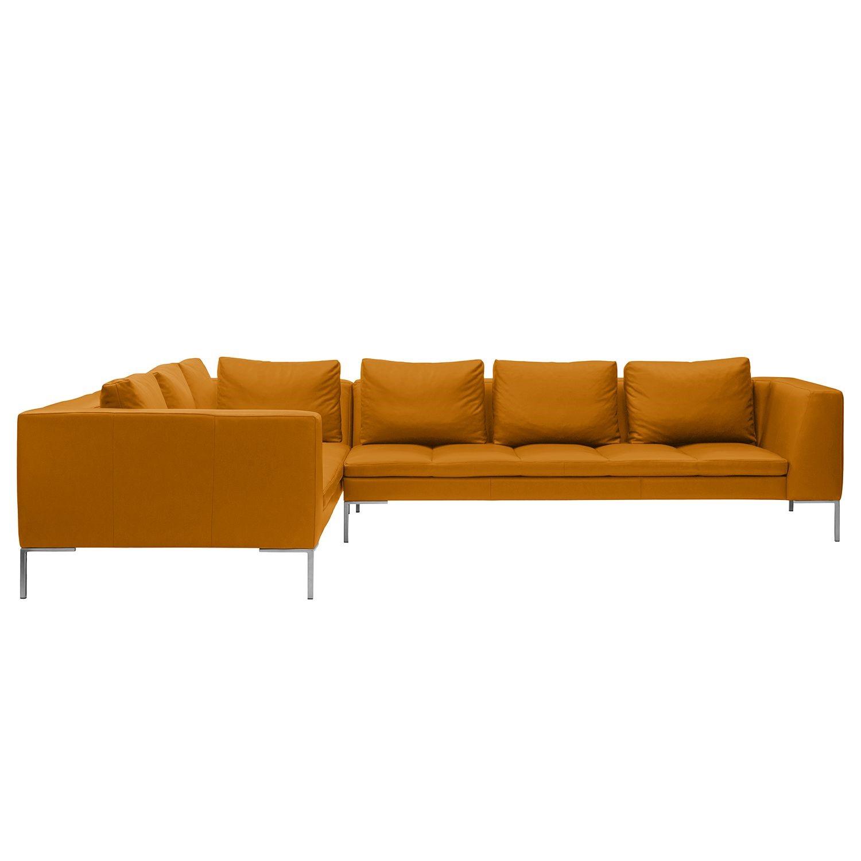 Ecksofa Madison II Echtleder - 2-Sitzer davorstehend links - 319 cm - Echtleder Neka Cognac