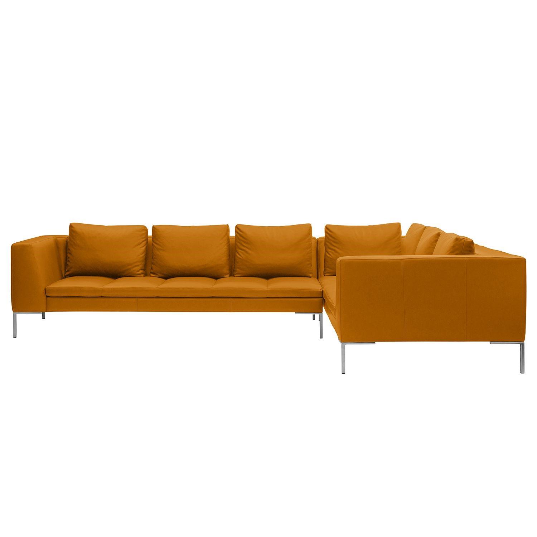 Ecksofa Madison II - Echtleder - 2-Sitzer davorstehend rechts - 319 cm - Echtleder Neka Cognac