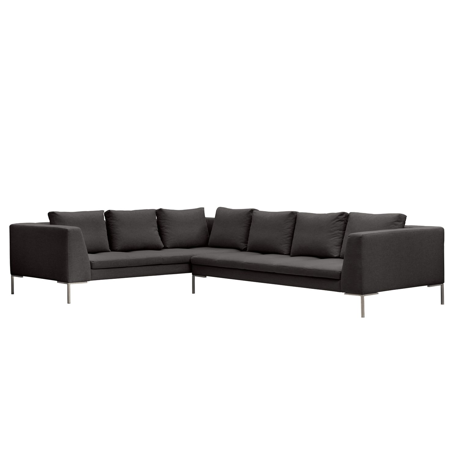 ecksofa madison ii webstoff 2 sitzer davorstehend rechts 319 cm stoff anda ii anthrazit. Black Bedroom Furniture Sets. Home Design Ideas