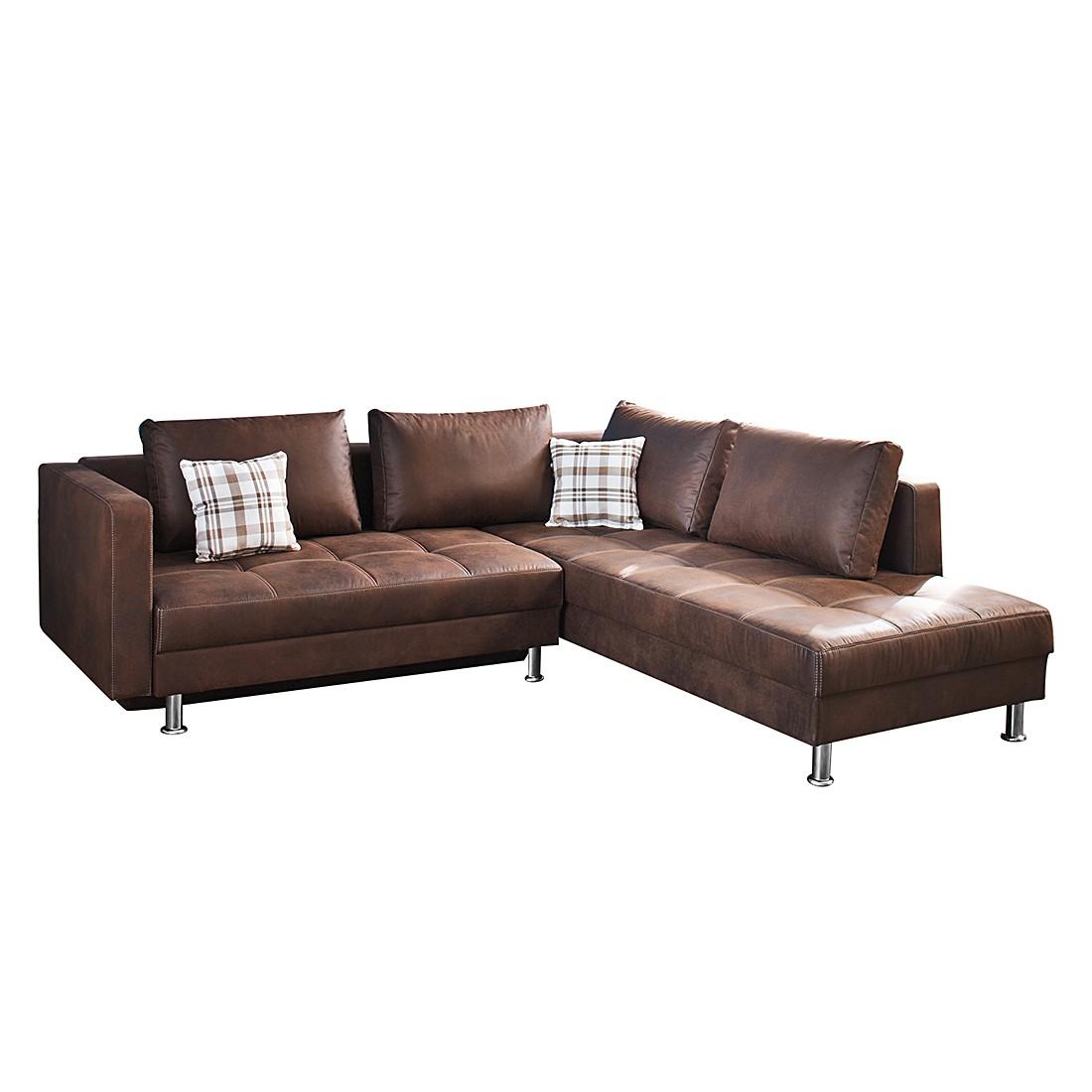 ecksofa antiklederoptik. Black Bedroom Furniture Sets. Home Design Ideas