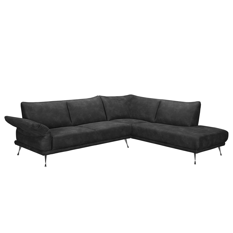 Canapé d'angle Milan - Imitation cuir - Méridienne courte à droite (vue de face) - Courte à droite (