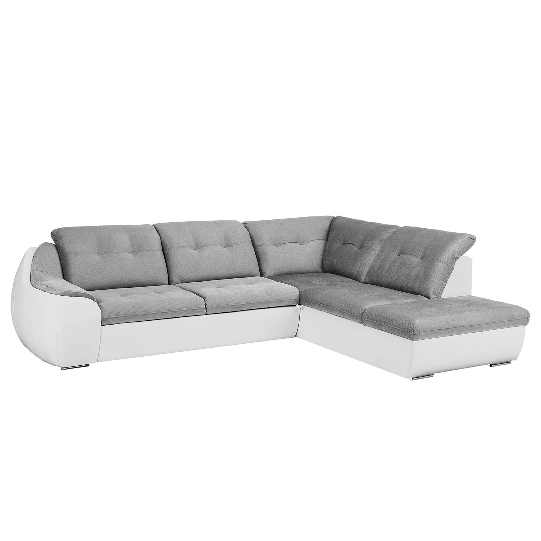 Canapé d'angle New Rockford II - Imitation cuir / Microfibre - Convertible - Courte à droite (vue de