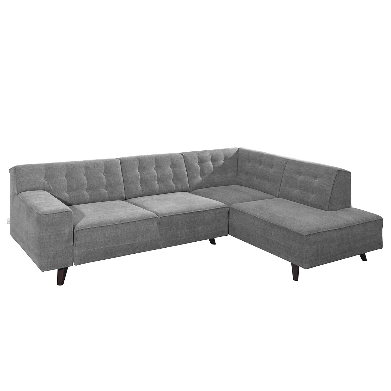 Canapé d'angle Nordic Chic - Tissu - Méridienne à droite (vue de face) - Gris - 269 cm, Tom Tailor