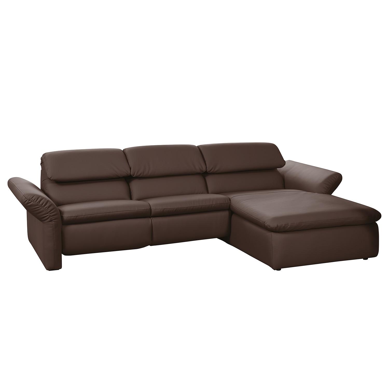 Canapé d'angle Perira II (Avec fonction relaxation) - Imitation cuir - Méridienne à droite (vue de f