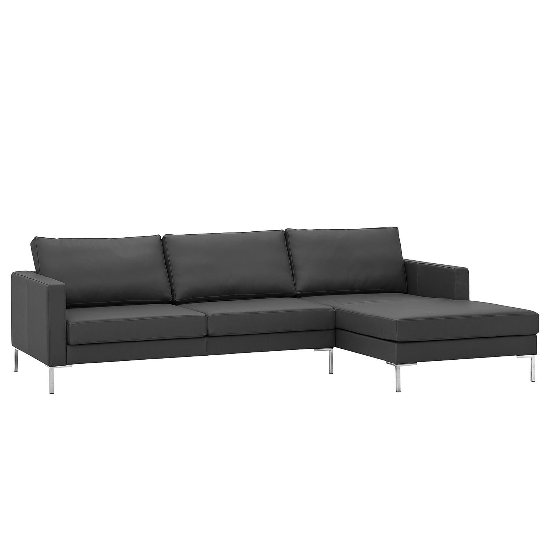 Canapé d'angle Portobello Cuir véritable - Méridienne à droite (vue de face) - 251 cm - Cuir véritab