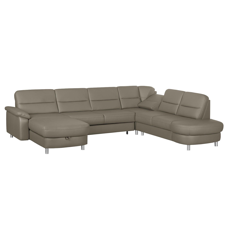 Canapé d'angle Songea - Cuir véritable / Imitation cuir - Méridienne à gauche (vue de face) - Avec f