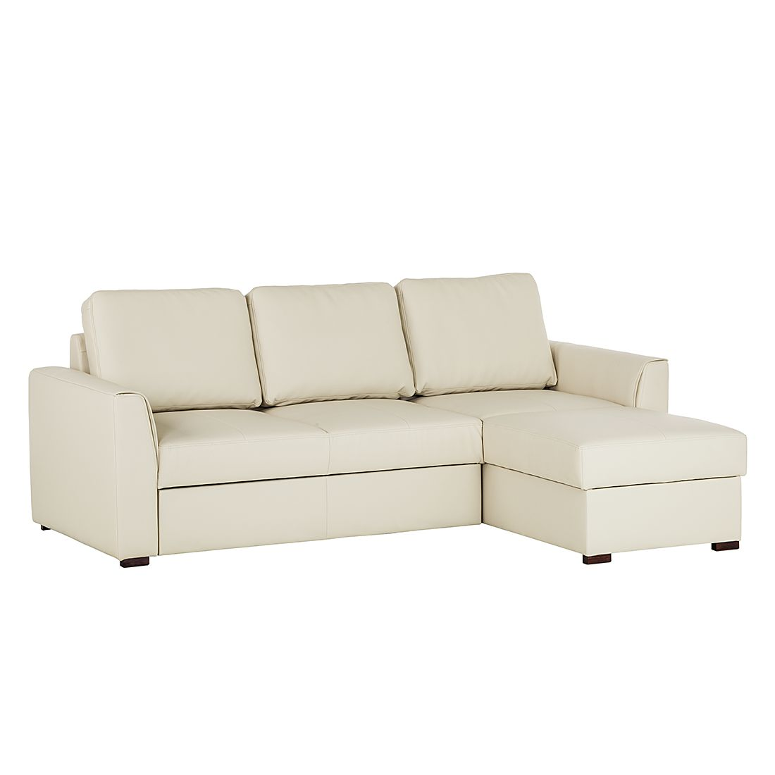 Canapé d'angle Venezia (avec fonction couchage) - Imitation cuir - Méridienne montable à gauche et à