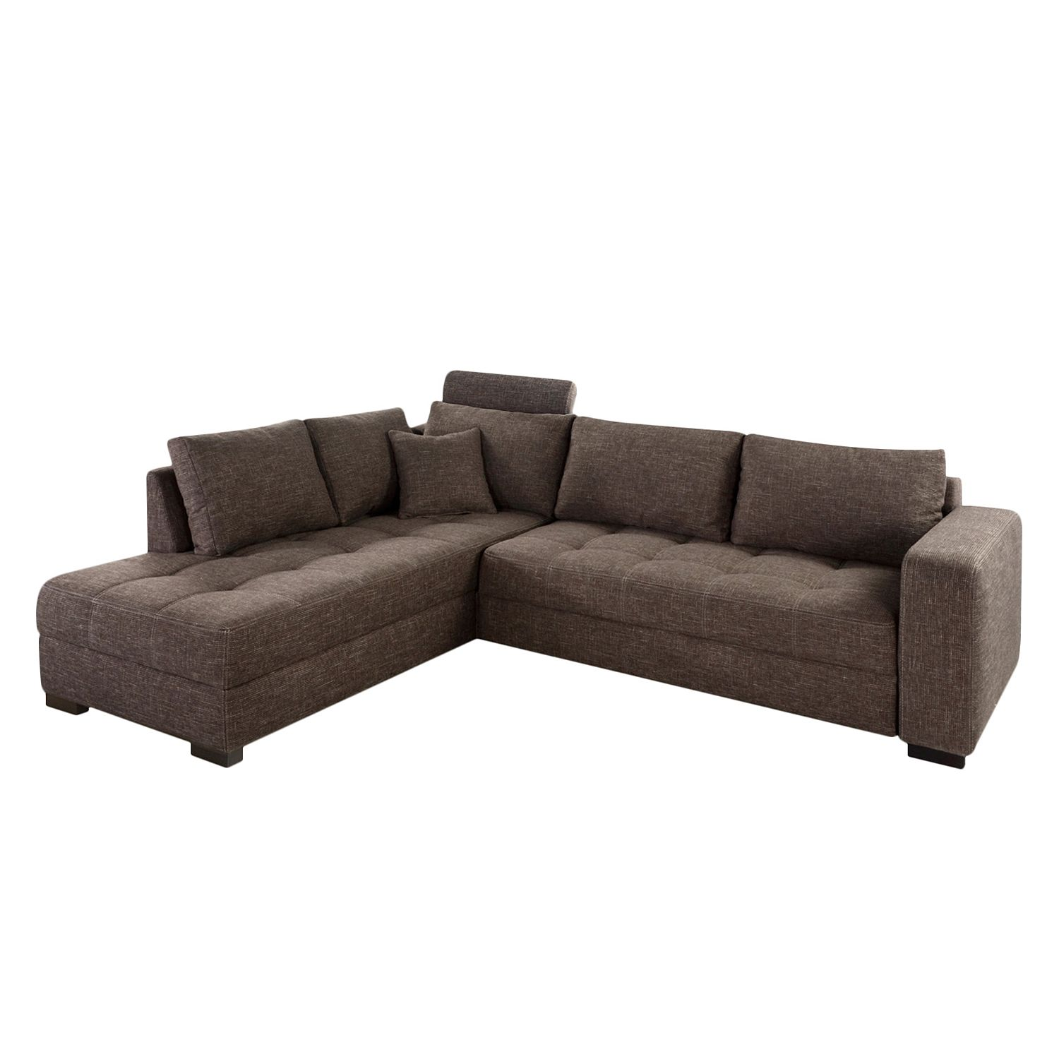 ecksofa mit schlaffunktion grau ecksofa maxie 330x178 cm. Black Bedroom Furniture Sets. Home Design Ideas