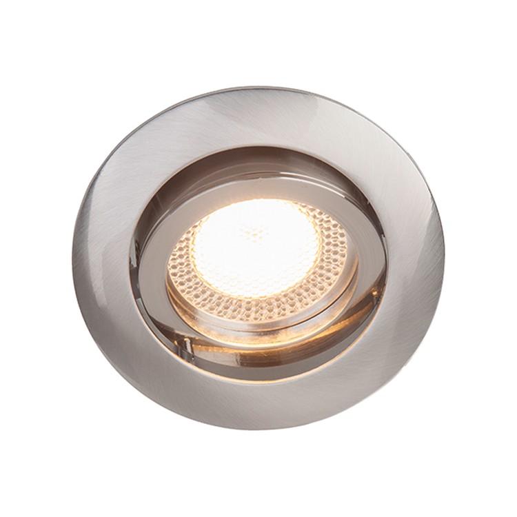 EEK A++, Einbauleuchte Easy Clip - Metall - Silber - 3-flammig ...