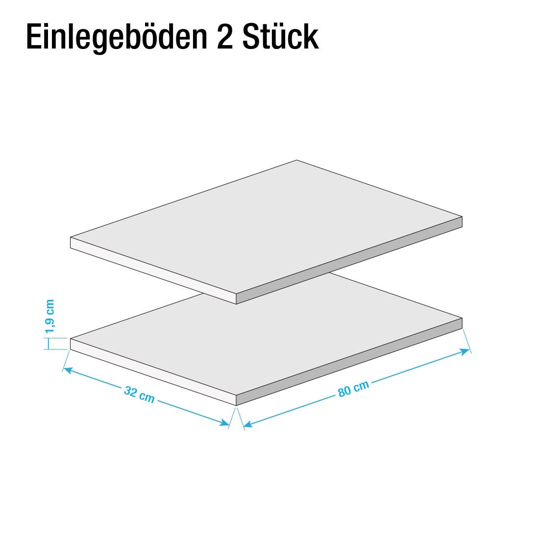 Inlegplanken Allround II (2-delige set) - wit, Voss
