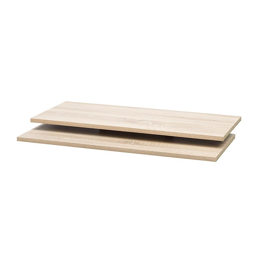 Home 24 - Tablette soft smart i (lot de 2) - imitation chêne - pour 120 cm de largeur / 42 cm de profondeur, cs schmal