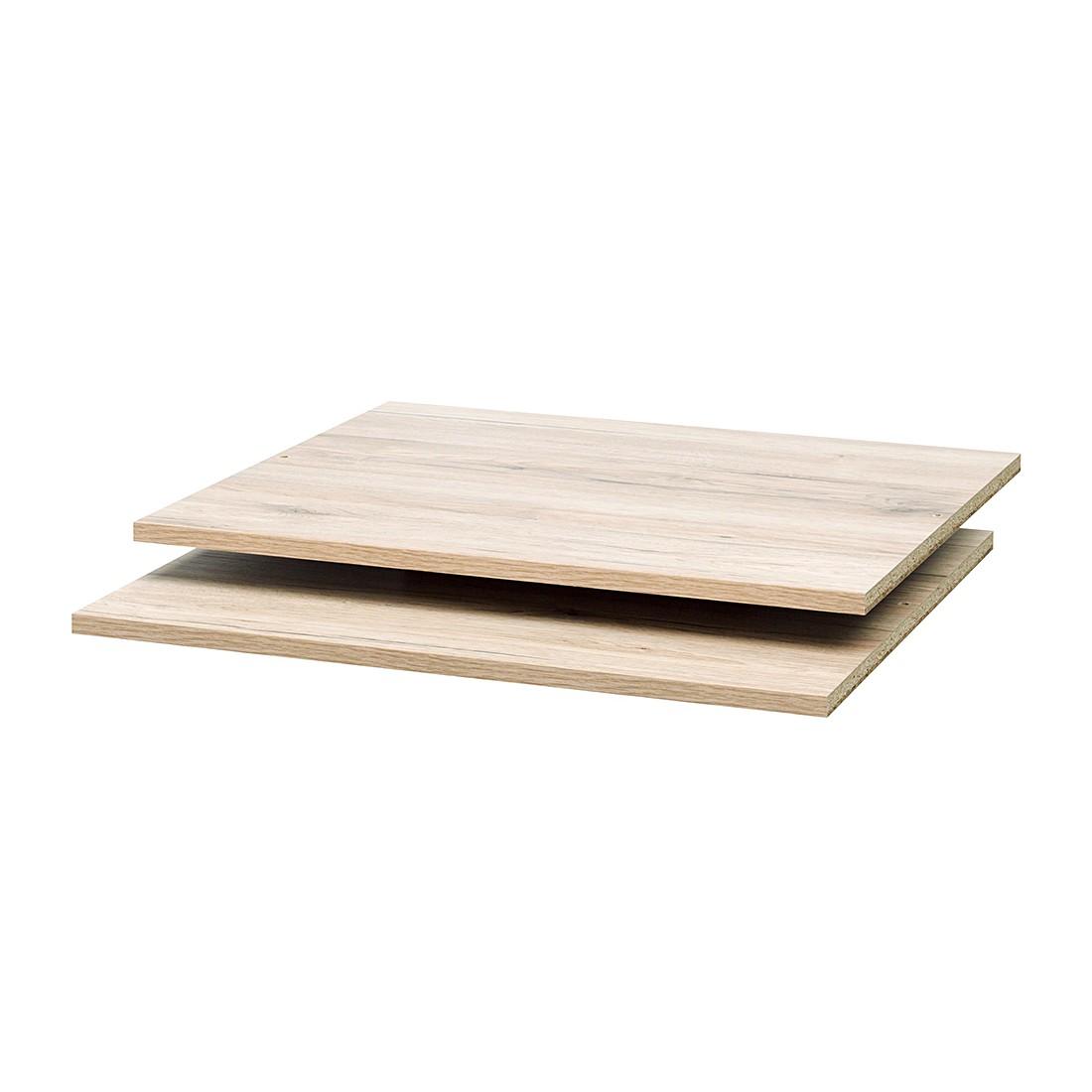 Inlegplanken Soft Smart I (2-delige set) - Sanremo eikenhouten look - voor breedte 120 cm/diepte 42 cm, Cs Schmal